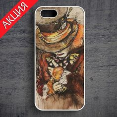 """""""Sad Hatter"""" Case for iPhone 4/4S, 5/5S, 6. Worldwide shipping. Store's url http://vk.com/market-71763847"""