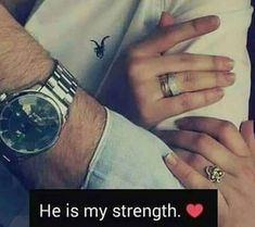 And I'm his strong weakness in love Cute Love Quotes, Cute Couple Quotes, Muslim Couple Quotes, Muslim Love Quotes, Soulmate Love Quotes, Couples Quotes Love, Love Picture Quotes, Love In Islam, Love Husband Quotes