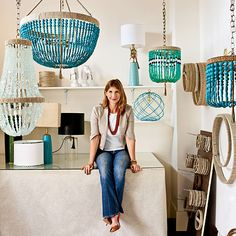 A few years ago I stumbled across Ro Sham Beaux when I was searching for totally unique lighting. They say lighting is the jewelry of a room, and these definitely are! Which is no surprise when you… Ro Sham Beaux, Beaded Chandelier, Chandeliers, Sea Glass Chandelier, Diy Light Fixtures, Beach House Decor, Home Lighting, Unique Lighting, Lampshades