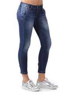 PANTALONE CHINO IN JEANS