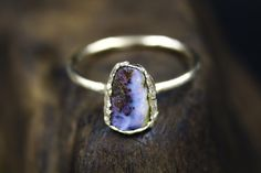 Australian Opal Engagement Ring in Solid Gold by The Fox and Stone Alternative Engagement Rings, Gemstone Engagement Rings, Raw Gemstones, Australian Opal, Modern Bohemian, Semi Precious Gemstones, Solid Gold, Fox, Silver Rings