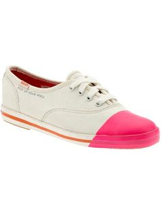 sneakers dipped in pink!