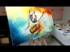 How to Paint with Oil Paints: #Abstract #Art #Painting / Abstract figurative painting #AbstractArt - YouTube
