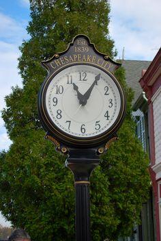 Chesapeake City Town Clock