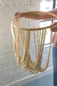 Check It Out! 30 Elegant How to Make A Beaded Chandelier - Diy Bead Chandelier the House that Lars Built. See Also Vintage Metal Wood Chandelier Zulily Light Beautiful Light.