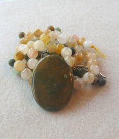 Rhyolite Jade Serpentine DIY Jewelry Kit by CatsBeadKitsandMore