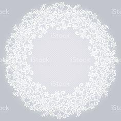 ホワイトレースのナプキン ロイヤリティフリーのイラスト素材