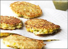 Corn and zuchinni griddle cakes