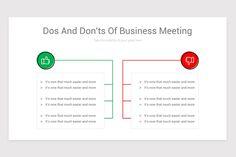 Dos and Don'ts Keynote Presentation Template Business Presentation Templates, Business Meeting, Keynote, Chart, Marketing
