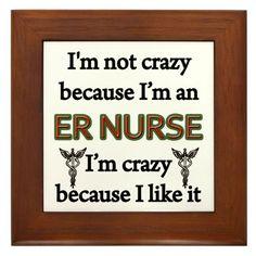 ER Nurse Framed Tile