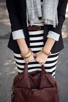 striped skirt #preppy
