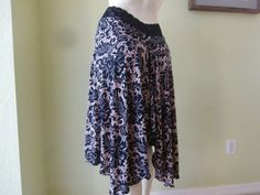 Argentine Tango Skirt  / Jupe Size fits US 4 to by COCOsDANCEWEAR