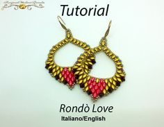 Rondò Love Earrings  PDF Beading tutorial di RosinaOttoliniBeads