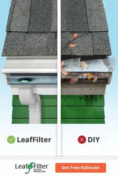Gutter Guards, Diy Gutters, Gutter Cleaning, Home Fix, Diy Home Repair, Home Gadgets, Home Repairs, Home Renovation, Getting Organized