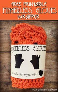 Free printable fingerless gloves wrapper!