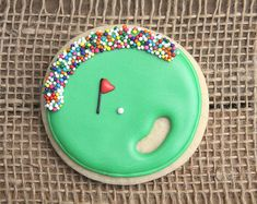 Golf Ball Favors / Golf Favors / Father's Day Gifts / Golf Party Decorations / Gifts for Dad / Golf Course Sugar Cookies - 12 cookies