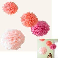 Some ideas how to use these pom poms plus a link to a tutorial by martha steward