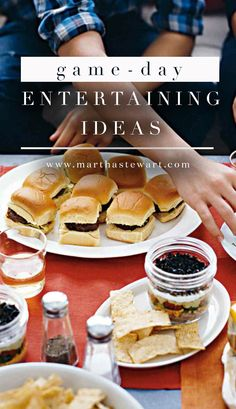 Game-Day Entertaining Ideas | Martha Stewart Living - Whether you're hosting a Super Bowl bash or a March Madness party, our game-day crafts and ideas will help you support your squad in style.