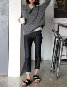 Comfort & Coffee. I love this combination of black, blues, and greys.