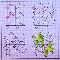 #tessellation #tiling #pattern #wallpaper #escher #mcescher #symmetry #handmade #birds...   Use Instagram online! Websta is the Best Instagram Web Viewer!