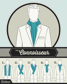 how the gentleman ties his winter scarf.....