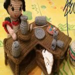 PATRON GRATIS BELEN AMIGURUMI 22075 Crochet Fairy, Crochet Home, Crochet Dolls, Crochet Designs, Crochet Patterns, Sunburst Granny Square, Christmas Crafts, Christmas Ornaments, Amigurumi Toys