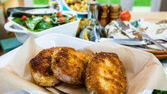 Parmesan Pork Chops with Spinach Salad!