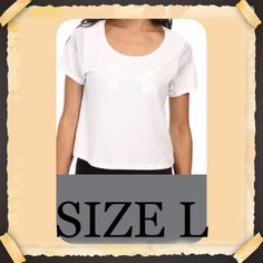 Under Armour Top Very cute and perfect for summer. 57% cotton, 38% polyester, 5% elastase. 21 inches. Pet and smoke free home. I'm sorry but I don't trade nor try on clothes. Under Armour Tops Tees - Short Sleeve