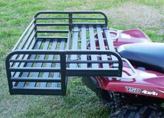 An ATV Drop Basket like this one from Discount Ramps gives you all kinds of extra space to carry supplies or equipment on your four wheeler. The quad cargo carrier is constructed of lightweight aluminum, so it won't rust. Motorhome, Atv Racks, 4x4, Utv Accessories, Polaris Atv, Homestead House, Atv Riding, 4 Wheelers, Hunting Gear