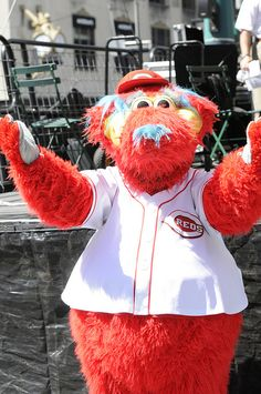 Gapper from the Cincinnati Reds entertains the crowd during United Way of Greater Cincinnati's 2012 Campaign Kickoff