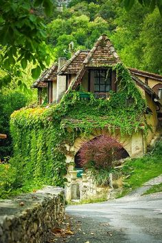 House in Rocamadour, Dordogne, France