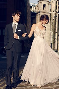 grey wedding dress, http://ruffledblog.com/bhldn-fall-2014-lookbook #weddingdress #bridal #fashion