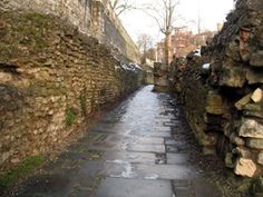 The Roman wall in York, England Places To See, Places Ive Been, Roman Roads, Roman Britain, London Tours, Roman History, Castle Ruins, Seven Wonders, England And Scotland