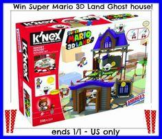 Win a Super Mario K'NEX 3D World Ghost House Set Ends 1/1