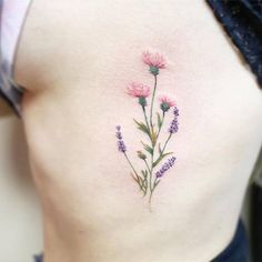 Dainty tattoo by Luiza Oliveira #Thistle #Heather