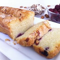 Middle-European style cake with the sophisticated flavor of almonds brightened with premium tart cherries. Gluten and dairy free - Tali's Artisanal - Gluten Free Gourmet