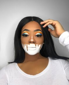 Looking for for ideas for your Halloween make-up? Browse around this website for perfect Halloween makeup looks. Fx Makeup, Makeup Inspo, Makeup Inspiration, Hair Makeup, Makeup Ideas, Face Makeup Art, Makeup Sale, Prom Makeup, Makeup Tutorials
