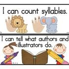 "Over 50 printable kindergarten ""I Can"" statements to help introduce and teach the Common Core English Language Arts Standards in a meaningful way (..."