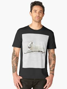 'weißer Wolf' Premium T-Shirt von Narkusdesign Wolf, Gifts For Your Boyfriend, Dogs And Puppies, Hot Pink, Samsung Galaxy, Costumes, Cover, Mens Tops, Black