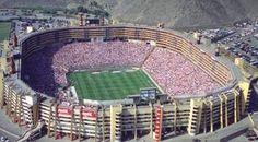 "Monumental Stadium in Peru. Belongs to the futbol club team ""Universitario"" - one of the most popular teams in Peru"