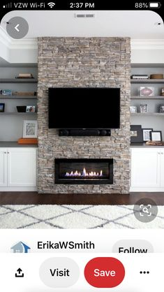 Top 2019 tv over fireplace viewing angle for 2019 Tv Over Fireplace, Linear Fireplace, Basement Fireplace, Family Room Fireplace, Fireplace Built Ins, Home Fireplace, Fireplace Remodel, Modern Fireplace, Fireplace Design