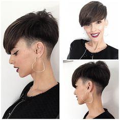 Asian Short Hair, Short Hair Cuts, Short Hair Styles, Crop Haircut, Pixie Haircut, Assymetrical Haircut, Undercut Long Hair, Cute Haircuts, Corte Y Color