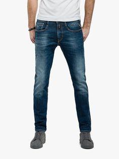 a jeans replay uomo anbass deep blue comfort denim slim fit 140 nuovo Evolve Clothing, Stylish Men, Men Casual, Denim Fashion, Fashion Outfits, Estilo Denim, Denim Jeans, Replay, Casual Outfits