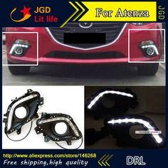 78.32$  Buy now - http://aliqqh.worldwells.pw/go.php?t=32752588611 - Free shipping ! 12V 6000k LED DRL Daytime running light for Mazda Atenza fog lamp frame Fog light Car styling