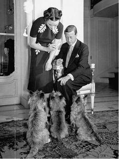 "Wallis Simpson (Bessie Wallis Warfield-Spencer-Simpson) (1896-1986) USA wife of King Edward VIII ""David"" (Edward Albert Christian George Andrew Patrick David) (1894-1972) Prince of Wales UK, Duke & Duchess of Windsor"