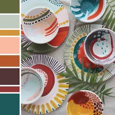 Trend Bible - Home & Interior Trends A/W Colour love home trends dinnerware - Home Trends Colour Schemes, Color Trends, Design Trends, Colour Palettes, Yoga Studio Design, Interior Paint Colors, Interior Painting, Home Decor Trends, 2018 Interior Trends