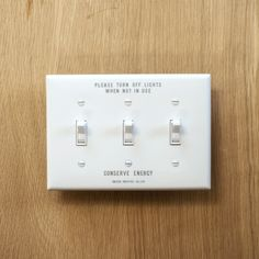 SAVE ENERGY TOGGLE SWITCH PLATE - WHITE | Household,Houseware | | P.F.S. Online Shop Switch Plates, White Light, Save Energy, Hardware, Computer Hardware