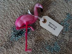 For my Flamingo obsessed friend;) Hand made by Carren Lu