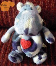 No. 122   víziló   plüss   kulcstartó   hippo   plush   keyring