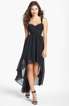 de9be0a62 Hailey Logan Contrast Panel High Low Dress (Juniors)
